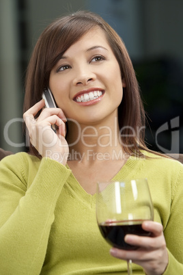 Modern Woman with Handy