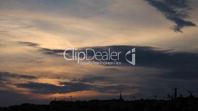 Timelapse sunset silhouette