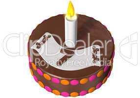 birthday cake seven