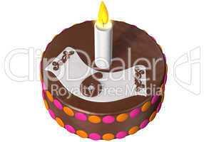 birthday cake six