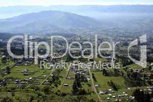 View of the Inter-Andean valley near Quito, Ecuador