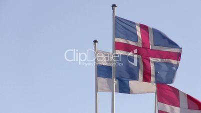 Norwegian, Finnish and Danish flags