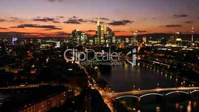 Zeitraffer Panorama der Stadt Frankfurt am Main Time Lapse