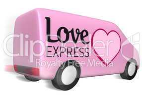 delivery van love express