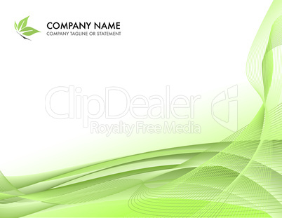 Corporate business template background - lush springtime green concept