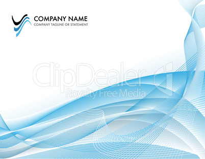 Corporate business template background - bright blue ocean concept