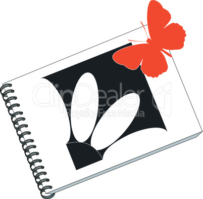 notes with butterfly in color 02
