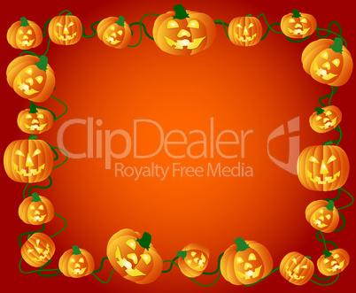 Halloween Kürbis Rahmen