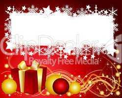 Bunte Weihnachtskarte mit Platz für ihren Text