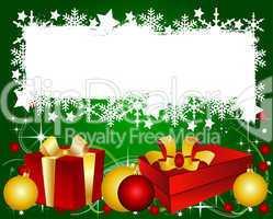 Goldene Weihnachtskarte mit Platz für ihren Text
