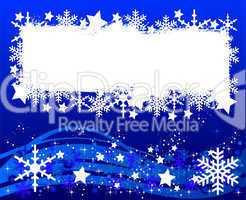 Blauer Weihnachtshintergrund - Ihr Text hier
