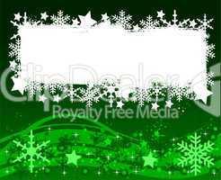 Grüner Weihnachtshintergrund - Ihr Text hier