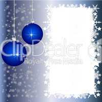 Silberne Weihnachtskarte mit Platz für ihren Text