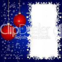 Blaue Weihnachtskarte mit Platz für ihren Text