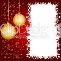 Rote Weihnachtskarte mit Platz für ihren Text