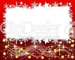 Roter Weihnachtshintergrund - Ihr Text hier