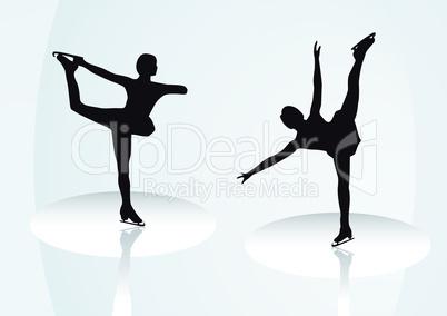 Eiskunstlauf Figurinen