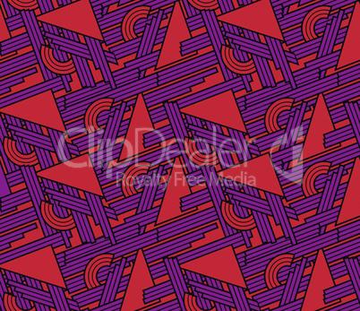 Abstrakter Musterrapport in rot und lila