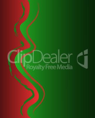 grün-roter Hintergrund