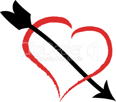 Herz mit Pfeil