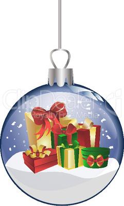 Weihnachtskugel aus Glas