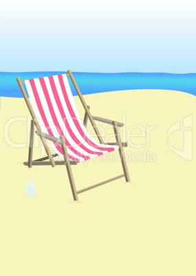 Sonnenstuhl am Strand