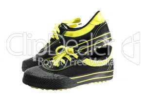 black atheletic footwear