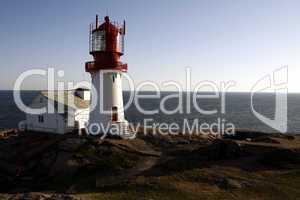 Leuchtturm in Norwegen (Lindesnes Fyr)