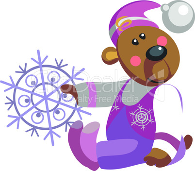 Bear with snowflake color 10.