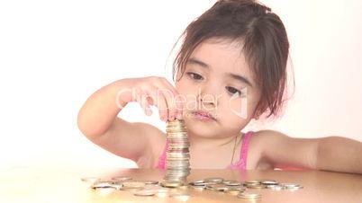 Child with money