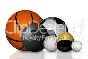Fußball Baseball Basketball Tennisball Puck Bowlingkugel