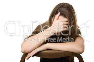 junge Frau mit Depression