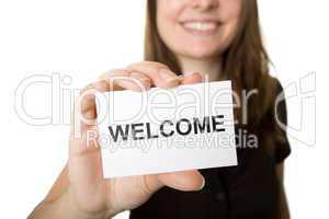 Sympathische Begrüßung Ihre Kunden