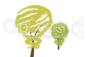 Öko Glühbirne dargestellt als Baum