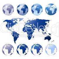 Blaue Weltkugel