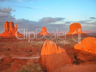 Sunset in Monument Valley, U.S.A., August 2004