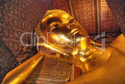 Buddha Statue in a Bangkok Temple, Thailand, August 2007