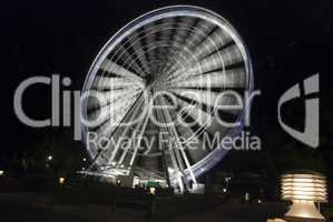 Panoramic Wheel by Night, Brisbane, Australia, August 2009