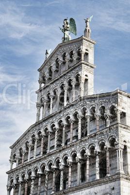 Facade of a Church in Lucca, Italy
