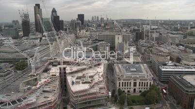 London: Stadtpanorama über den Finanzbezirk (Totale)