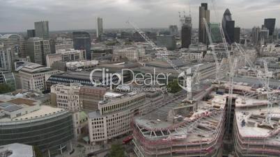 London: Stadtpanorama über den Finanzbezirk (Totale 2)