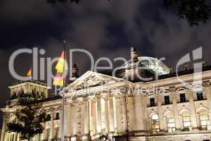 berlin reichstag by night