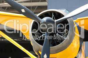 Army Co-operation single engine Westland Lysander III aircraft, front part of the body view.