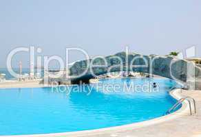 Swimming pool at hotel recreation area, Fujeirah, UAE