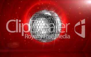 Rolling disco ball