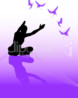 Yoga Figur beim Üben