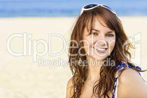 Cheerful Beach Beauty