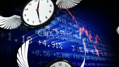 Trading board and clocks