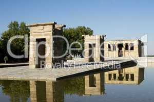 Ägyptischer Debod Tempel in Madrid in Spanien