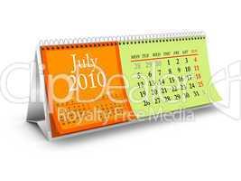July 2010 Desktop Calendar
